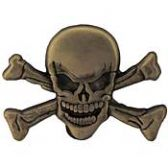 SKULL AND CROSS BONES LAPEL PIN